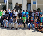 AVID students visit James Madison University