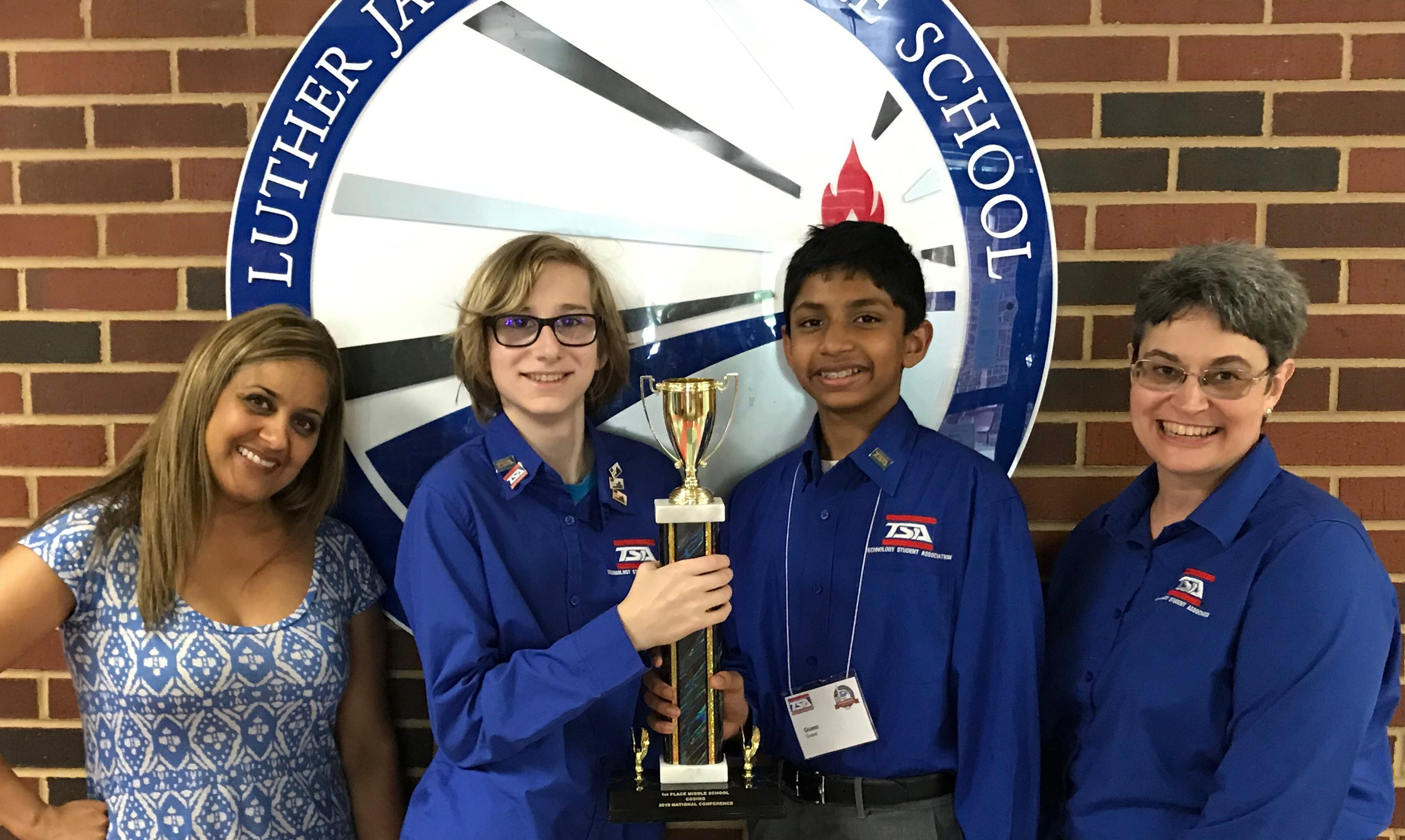 Luther Jackson Middle National Winners of Coding Competition